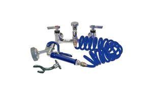 Wall Mount Faucet, Coil Hose