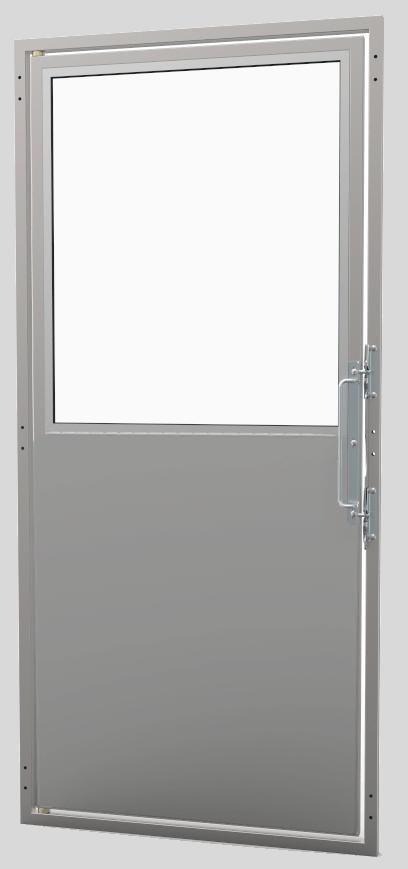 "48"" Stainless Steel Isolation + Glass Door"