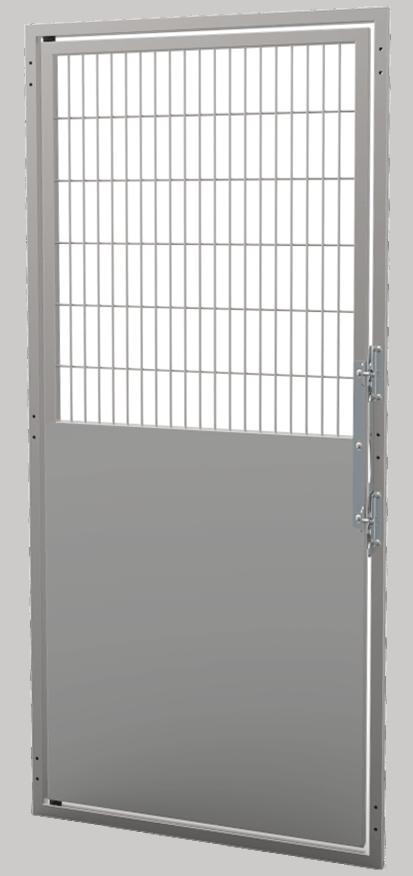"48"" Stainless Steel Isolation + Wire Door"