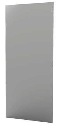 Back Panel Stainless Steel Iso One Side
