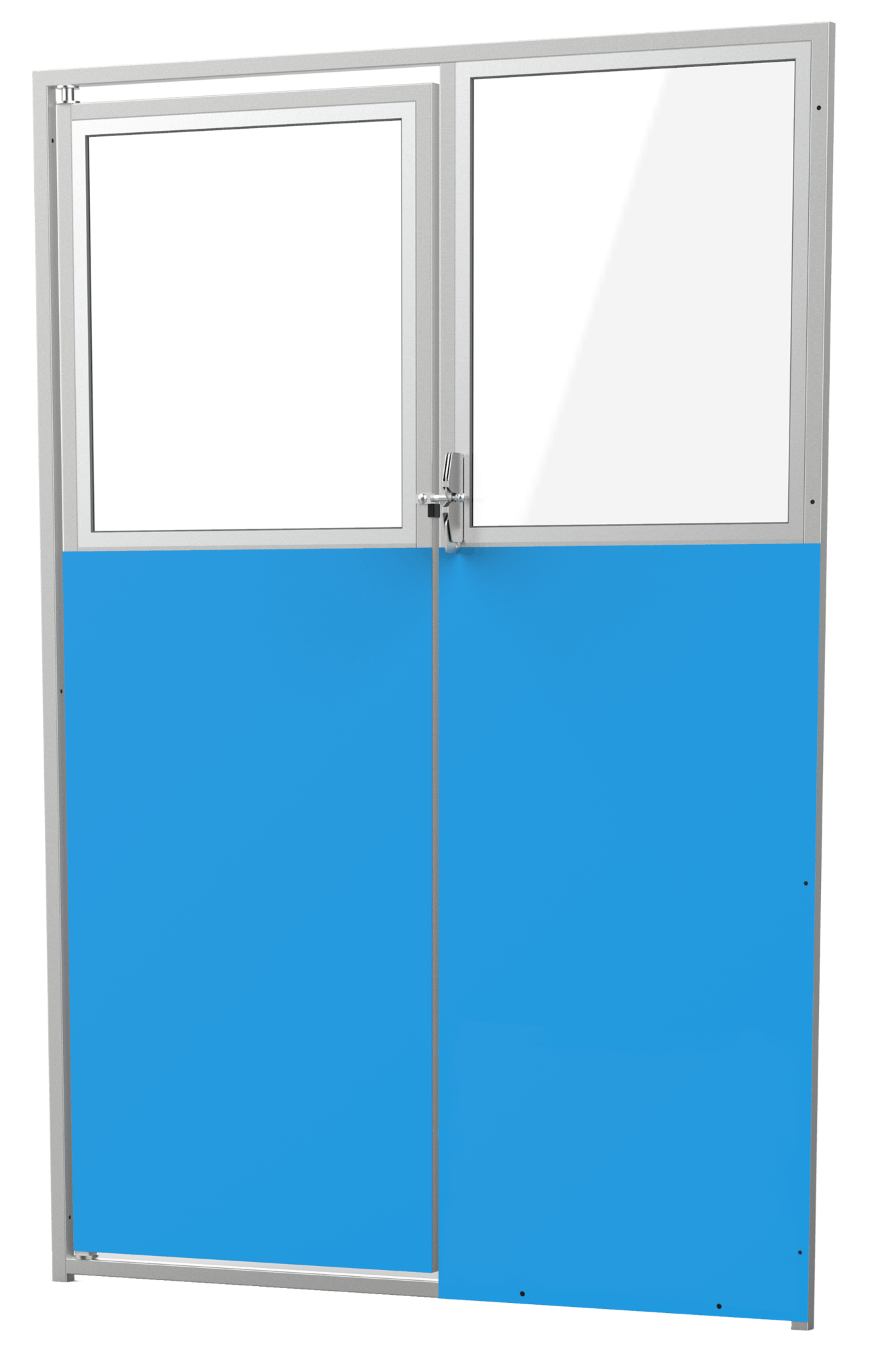 """48"""" Iso with Glass Stainless Steel Gate"""