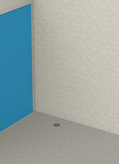 Concrete Floor with Hole Drain