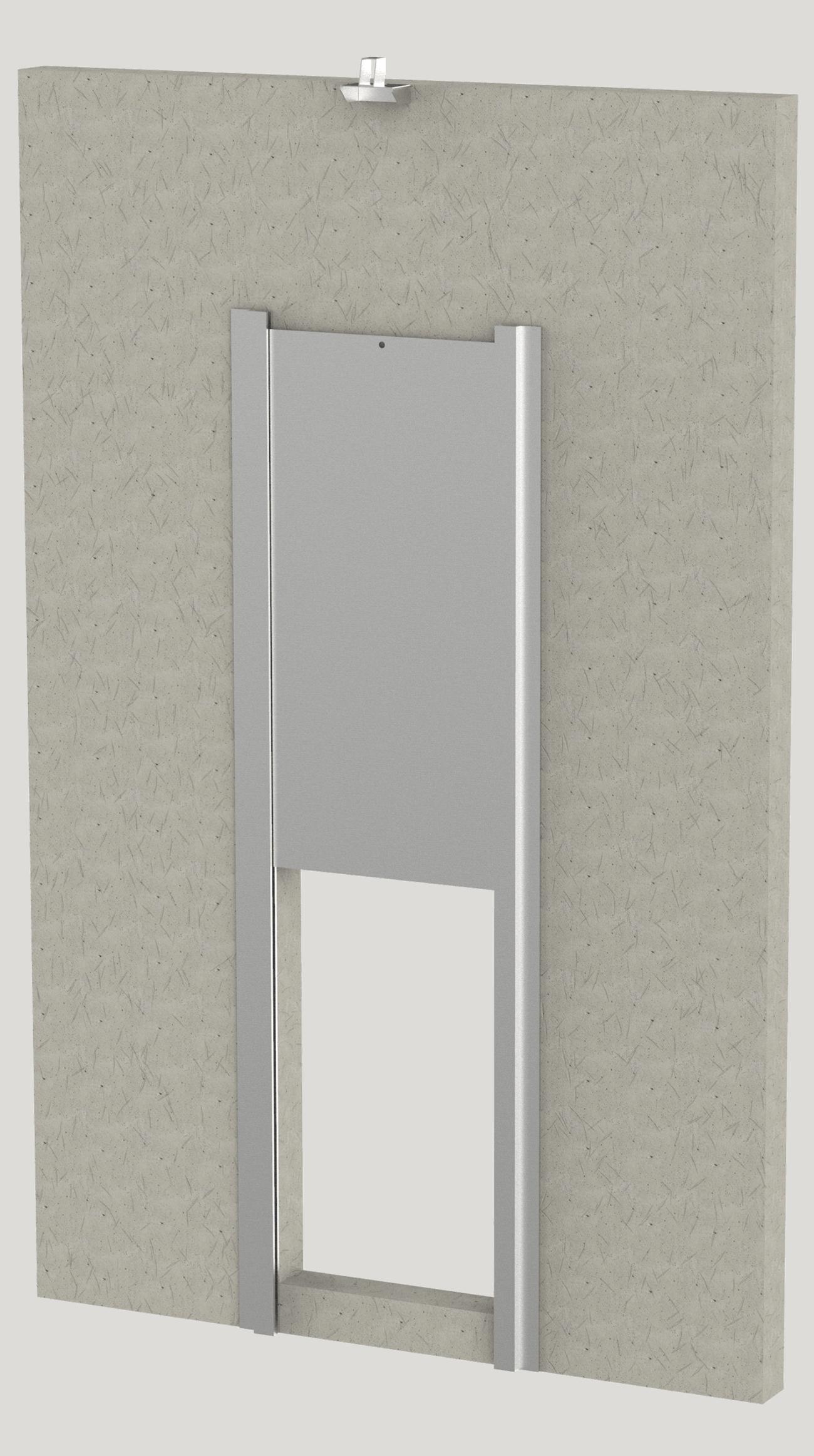 block wall transfer door