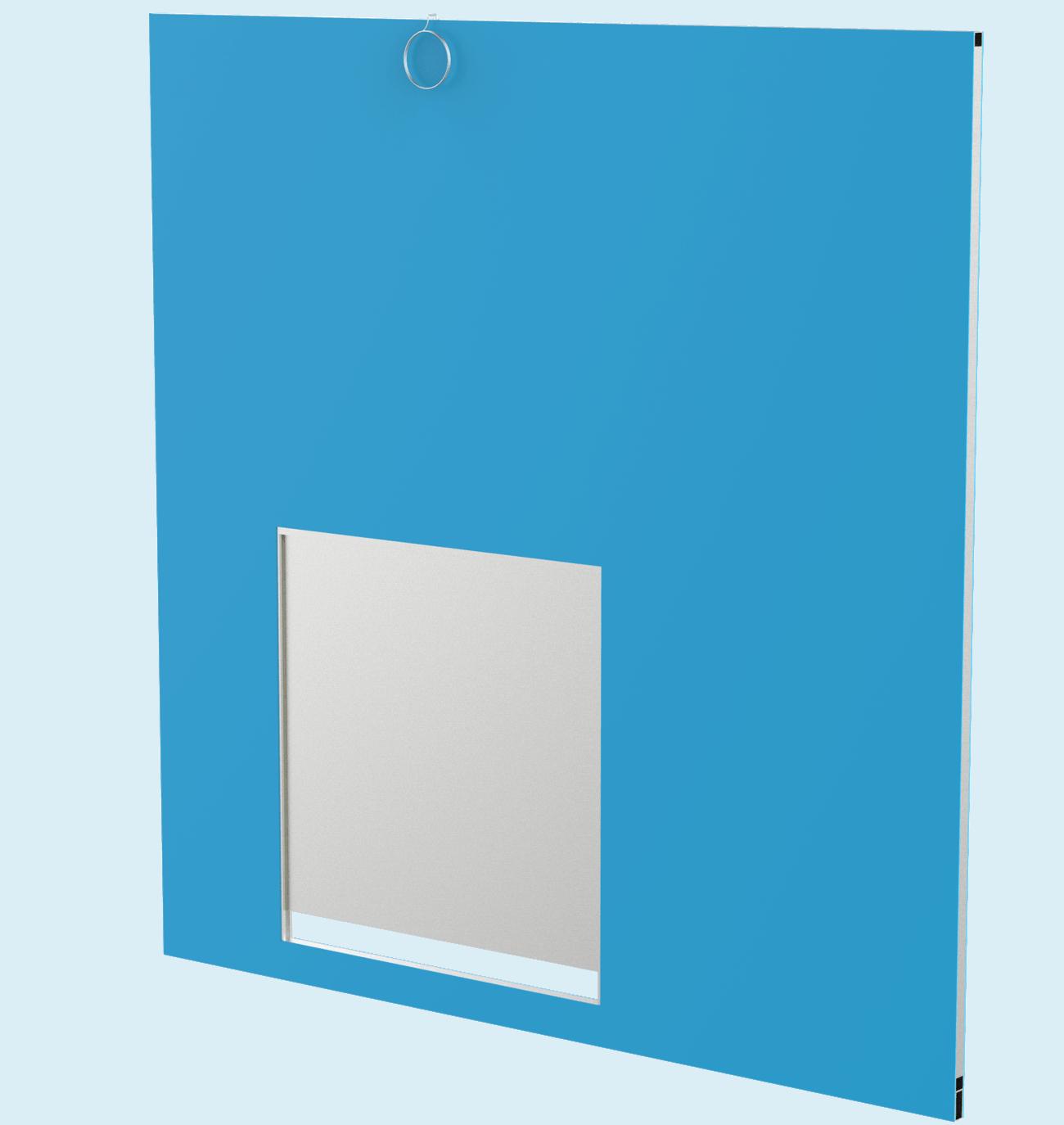 Side Panel with Transfer Door