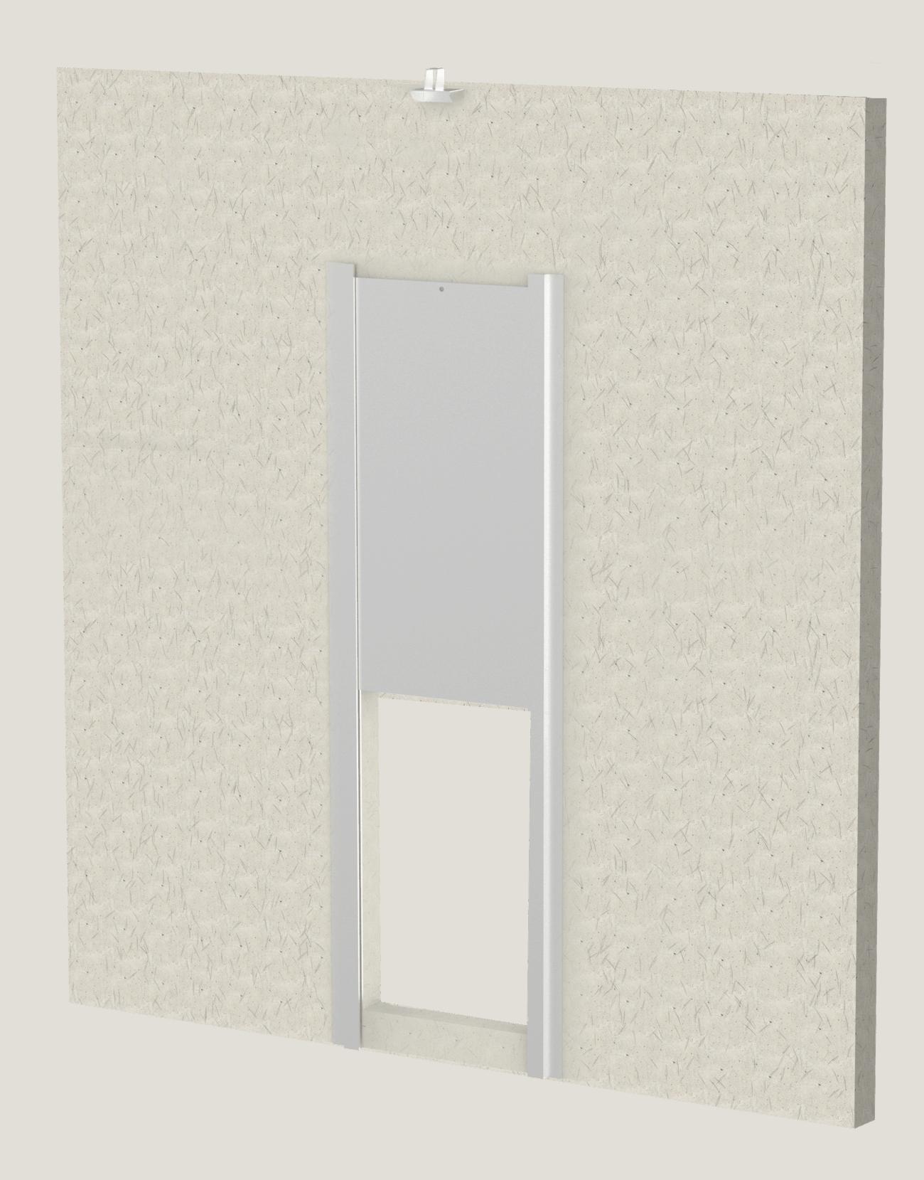 Full Height Block Wall with Transfer Door